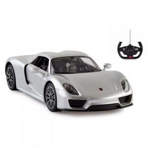 Masina Cu Telecomanda Porsche 918 Spyder Argintiu Scara 1 La 14