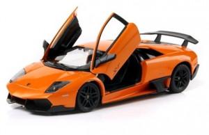 Masinuta Metalica Lamborghini Murcielago Lp670-4 Portocaliu Scara 1 La 24