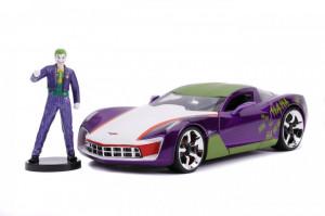 Masinute Metalica Chevy Corvette Stingray 2009 Si Figurina Joker Scara 1:24