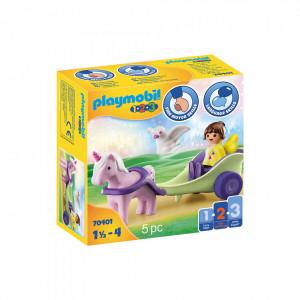 Playmobil 1.2.3 Zana Cu Trasura Si Unicorn