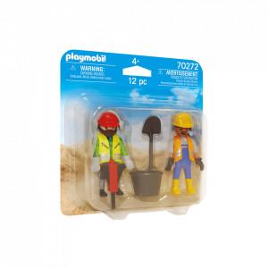 Playmobil Set 2 Figurine Muncitori In Constructii