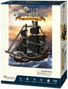 Puzzle 3D Nava Queen Anne 100 Piese