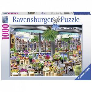 Puzzle Piata De Flori In Amsterdam, 1000 Piese