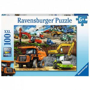 Puzzle Vehicule De Constructii, 100 Piese