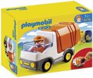 Set de joaca Playmobil, 1.2.3 Camion Deseuri