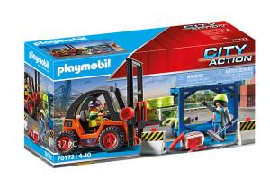 Set de joaca Playmobil Stivuitor De Marfa