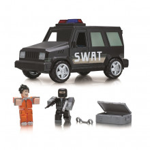 Set de joaca Roblox, model Jail Break Swat Unit, Masina Cu Functii si 2 Figurine