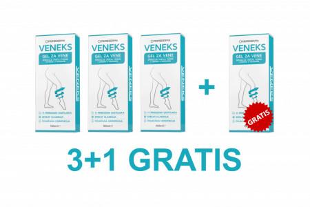 VENEKS Gel za vene 3+1 GRATIS