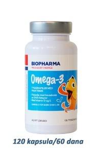 BIOPHARMA Norveške Omega-3 za decu sa ukusom voća