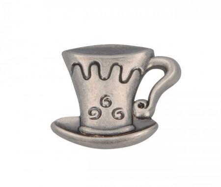 Buton mobila 1058-40ZN28 cescuta argint antic Siro