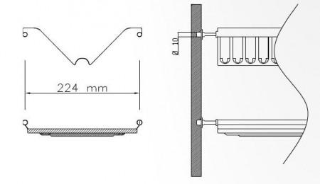 Scurgator vase din INOX pentru corp 600mm
