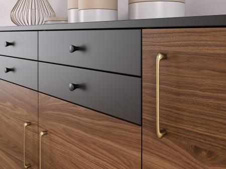 Buton mobilier Siro 872-24PB12 negru mat