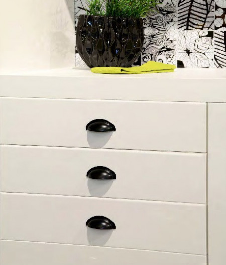 Maner mobilier 1760-85PB12 64mm negru mat Siro