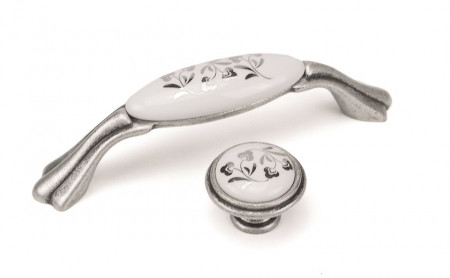 Maner mobila M75.00.H4.E8G argento vechio flori argintii Giusti