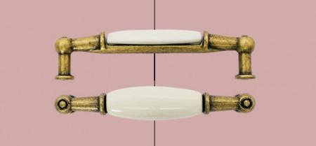 Maner mobilier M01.01.00.D1G 96mm portelan simplu Giusti