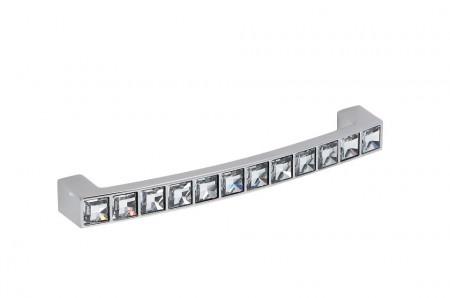 Maner mobila WMN550.128KR02 crom lucios cu cristale Swarovski Giusti