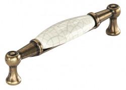 Maner mobila 1699-107ZN48PC5 bronz antic cu portelan spart Siro