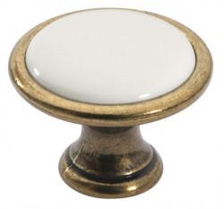 Buton 1700-29ZN48PF21 bronz antic cu portelan simplu