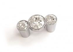Buton mobila WPO633.032KR02 crom lucios cristale Swarovski Giusti
