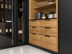 Maner mobilier 2477-168PB12 negru mat Siro