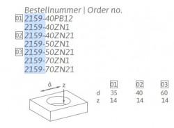 Buton mobila ingropat 2159 ZN1 crom lucios Siro