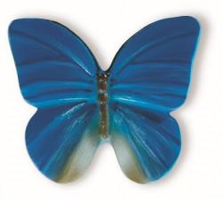 Buton mobila H044-42A9 fluture albastru Siro