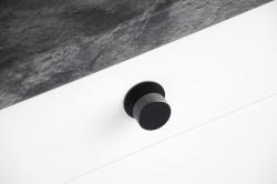 Baza buton 1533/2087F/2464, cuier 2453, negru mat Siro