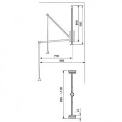 Lift haine Moka 830-1150mm