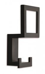 Cuier 2434/PB12 negru mat Siro