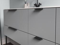 Maner mobilier Siro 2470-138PB12 negru mat