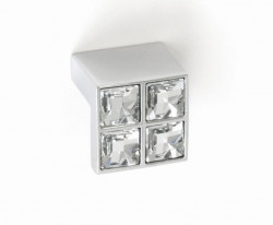 Buton mobila WPO550.016.KR02 crom lucios cristale Swarovski Giusti