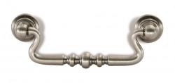 Maner mobila 1704-118ZN28V2 argint antic Siro