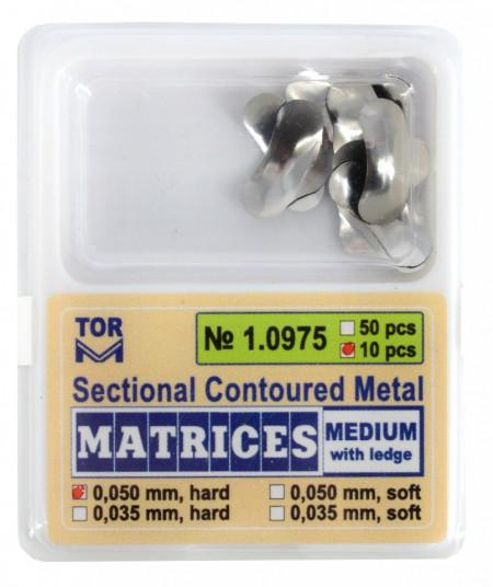 Matrici metalice sectionale 0.050mm cu bordura - 10 bucati TorVM