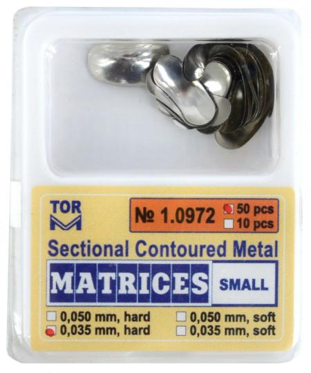 Matrici metalice sectionale 0.035mm cu bordura - 50 bucati TorVM