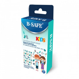 Set 10 masti medicale B-SAFE pentru copii