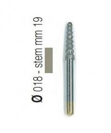 Freza diamantata forma tornado compozit aliaj rodium-platina - T3