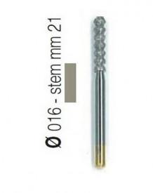 Freza diamantata forma tornado compozit aliaj rodium-platina - T2