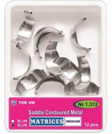 Matrici metalice conturate medium subgingivale 12 bucati TorVM