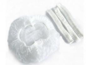 Bonete albe din netesut - 100 buc/set