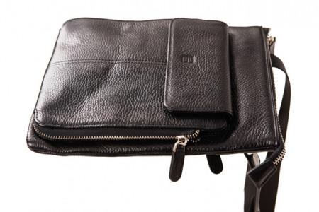 BRUG - Muška kožna torba - Crna
