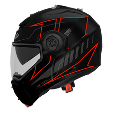 CABERG - DROID BLAZE MATT BLACK/RED FLUO