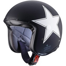JET FREE RIDE STAR BLACK/WHITE XL