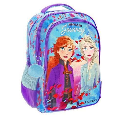 Ghiozdan ergonomic Elsa si Anna, 3 compartimente, Disney Frozen