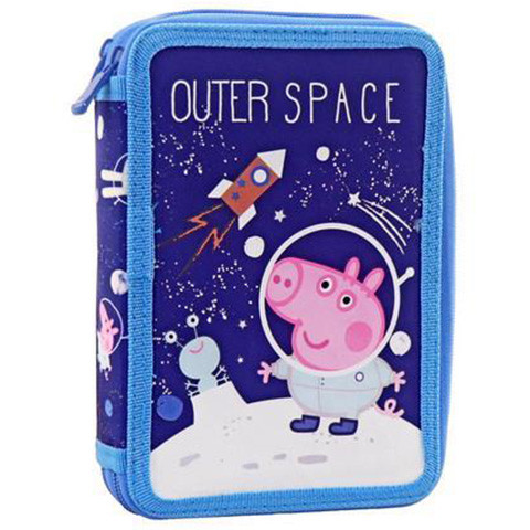 Penar echipat cu 2 compartimente Outer Space Peppa Pig