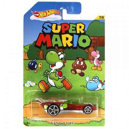 Masinuta Flathead Fury 1/64 Hot Wheels Super Mario