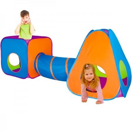 Doua corturi de joaca cu un tunel pop-up iPlay