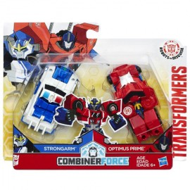 Poze Figurine Robot Optimus Prime si Strongarm Transformers Combiner Force