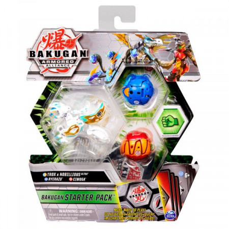 Set Bakugan Armored Alliance Start figurine Trox x Nobillious Ultra - Ryerazu - Cimoga