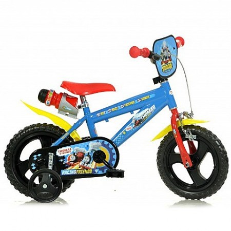 """Bicicleta pentru copii cu roti ajutatoare si sticla de apa 12"""" Thomas si Prietenii"""