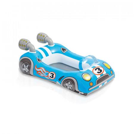 Barcuta gonflabila masinuta de curse albastra